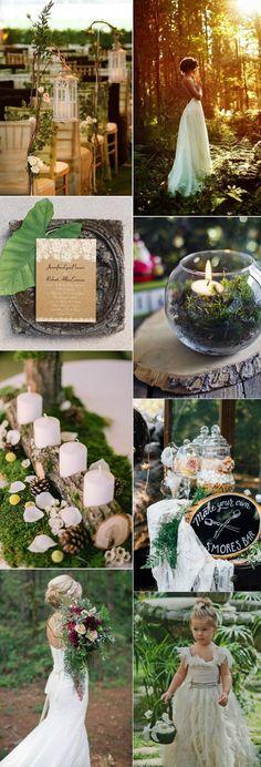 dreamy and enchanted woodland inspired wedding ideas #WeddingIdeas