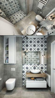 Home Designing — (via Grey And White Bathroom) - Toilettenideen Bathroom Design Small, Bathroom Layout, Bathroom Interior Design, Modern Bathroom, Bathroom Toilets, Laundry In Bathroom, Bad Inspiration, Bathroom Inspiration, Gray And White Bathroom