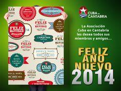 Diseño de cartel para la felicitación navideña 2014 de La Asociación Cuba en Cantabria.