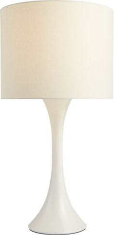 ada II white table lamp  | CB2