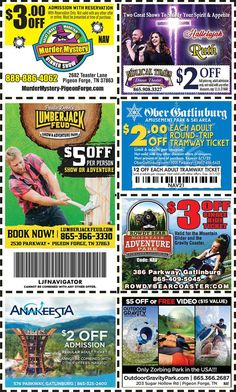 Smoky Mountains - Pigeon Forge Coupons - Gatlinburg Discount Coupons Gatlinburg Coupons, Smoky Mountains Attractions, Tupperware Recipes, Dinner Theatre, Mountain Vacations, Tennessee Vacation, Shopping Coupons, Pigeon Forge, Discount Coupons