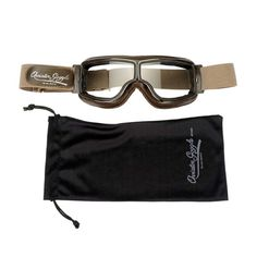 I found the one. Aviator Pilot Goggles By Leon Jeantet T2 - Brown / Chrome | Motorcycle Goggles | FREE UK delivery - The Cafe Racer