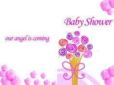 Babyshower Invitations Bouquet