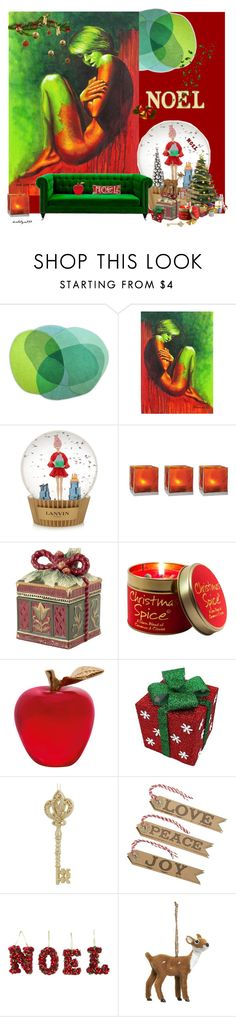 """Noel..."" by katelyn999 ❤ liked on Polyvore featuring interior, interiors, interior design, home, home decor, interior decorating, NOVICA, Lanvin, Cultural Intrigue and Fitz and Floyd"
