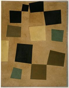 Jean (Hans) Arp Untitled (Squares Arranged according to the Laws of Chance), 1917 Cut-and-pasted colored paper on colored paper, 131/8...
