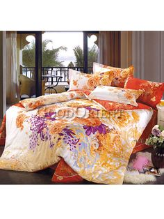 Unique Red Chinese wedding style of bedding - GoodOrient Satin Bedding, Cotton Bedding, Wedding Bed, Phoenix Design, Peony Print, Asian Home Decor, Luxury Bedding Sets, Comforter Sets, Bed Sheets