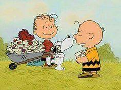 Snoopy, Charlie Brown, Linus, Valentine's