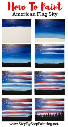 How To Paint American Flag Sky - Step By Step Painting - - Easy and simple acrylic painting for the absolute beginner and kids. How To Paint American Flag Sky – Step By Step Painting Cute Canvas Paintings, Easy Canvas Painting, Simple Acrylic Paintings, Diy Canvas Art, Diy Painting, Painting & Drawing, Canvas Painting Tutorials, Beginner Canvas Painting Ideas, Painted Canvas