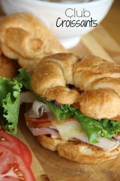 Club Croissants-with Roasted Red Onion Mayo