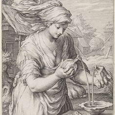 Matigheid (Temperantia), Jacob Matham, Hendrick Goltzius, Cornelius Schonaeus, 1597 - Rijksmuseum
