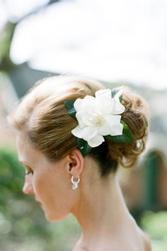 On the actual wedding day, Ingrid will wear a single gardenia in her hair. Garden Wedding, Dream Wedding, Wedding Day, Wedding Bride, Wedding Stuff, Bridal Flowers, Flowers In Hair, Flower Hair, Wedding Hair And Makeup