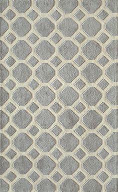 Gray Garden Tile Rug