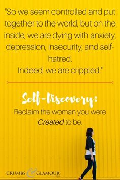 We've strayed. We're morphed. The women we were created to be now live in the shadows of life's pain. We seem controlled and put together to the world, but on the inside, we are dying with anxiety, depression, insecurity, and self-hatred. Indeed, we are crippled. Start your process for self-discovery! Reclaim the woman you were created to be!