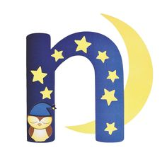 """""""N Is For Night"""" Lowercase Letter N Craft Kit. Help kids learn the alphabet with a hand-on activity! Use this craft kit to turn a lowercas. Preschool Letter Crafts, Alphabet Letter Crafts, K Crafts, Letter N, Letter Activities, Alphabet Books, Preschool Projects, Preschool Education, Children Activities"""