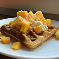 Coconut Waffles ~ Mangiare squisito ~ Foodblog