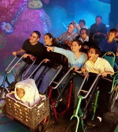 """ET's Adventure"" at Universal Orlando is cute for the little one's, but the ride is definitely in need of some updates.  Only worth the ride if the wait is less than 10 minutes."