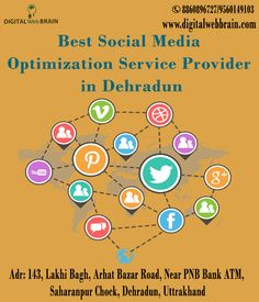 If you are looking for SMO (social media optimization) service in dehradun. Digital Web Brain is one of the Best social media Optimization Service provider in Dehradun. We are offering SMO Service in all kind of Social media platform such as Facebook, Twitter, YouTube, Pinterest, LinkedIn, Tumblr, Google Plus. Click on Link for more details: http://bit.ly/2gXPJ9Z  #SMOServiceinDehradun #BestSocialMediaOptimizationServiceProviderinDehradun #SMOCompanyinDehradun