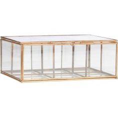 Madam Stoltz Glaskasten - Kopper 18 x 13 cm
