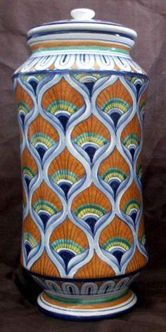 Vaso/albarello di Faenza con decoro a pavona a Ravenna - eBay Annunci