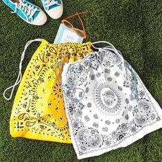 bandana-tote bags/daypacks, Martha Stewart, adorable!