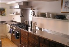 Another look at this great, camp style kitchen drawer bank.  Love the inset drawers!