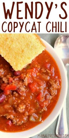 Wendy's Chili Copycat Recipe - How to make Wendy's style chili at home!