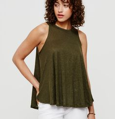 http://rstyle.me/n/bssk8sbnaqf - The perfect swing tank to pair with skinny jeans or shorts