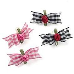 gorgeous dog ribbon bows