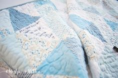 Great idea! Use a quilt to serve as a guest book at your wedding. Perfect keepsake!