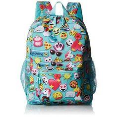 Backpack Emoji Girls Emojis Backpacks Bag School Rusksack Cute Handbag Aqua Blue #TheChildrensPlace