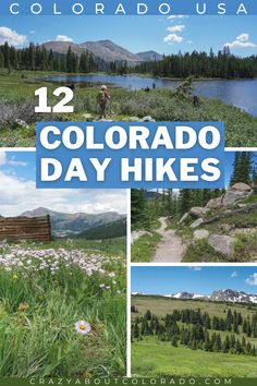 Some of our favorites trails for amazing day hikes in Colorado's backcountry. Do one of these and you will be itching to do another one!  #colorado #hikingtrails #hike Colorado Usa, Colorado Hiking, Hiking Spots, Hiking Trails, Amazing Destinations, Travel Destinations, Utah Hikes, Day Hike, Family Adventure