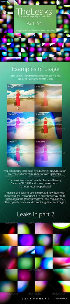 TheLeaks - Ultimate Vintage Light Leaks Pack 2/4. Only $6 @GraphicRiver