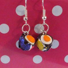 Retro Creme Egg drop earrings Quirky, fun, unique, handmade novel £5.00