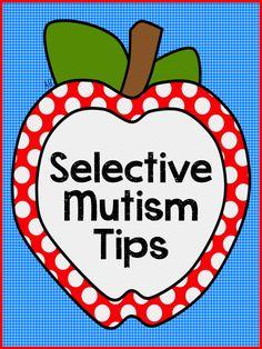Teach123 - Tips for Teachers: Selective Mutism Tips