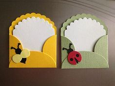 LITTLE LADY BUG AND BUMBLE BEE NOTE CARDS AND ENVELOPES. HOW SWEET ARE THESE?