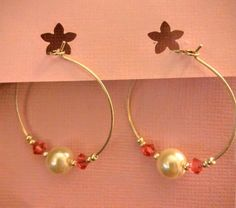 Pearl and pink crystals by Jewelrybyila on Etsy