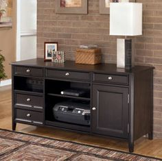H371-46 Carlyle Power Credenza-American Furniture