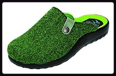 FlyFlot Damen Hausschuhe D.Pantoffel in grün, Größe 42.0, - Hausschuhe für frauen (*Partner-Link)