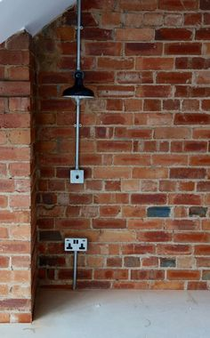 In a weird twist of fate, it's a been a full on week of Factorylux lighting goodness. If you remember, we're working with Urban Cottage Industries on the lighting for our loft bedroom. Urban Cottage Industries design and produce their Factorylux lighting range, and we've been working with their modular range which comes with fun stuff like conduit and pattress boxes. Think of it as Pick n Mix but for lighting. Design your own lights basically. Well, as we'd finished sealing the brick wall…