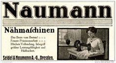 Original-Werbung/ Anzeige 1911 - NÄHMASCHINEN NAUMANN / SEIDEL & NAUMANN - DRESDEN  - ca. 130 x 65 mm