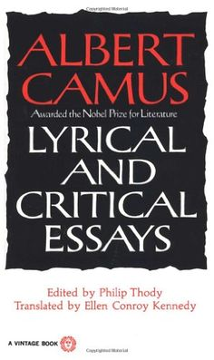 Critical essays on the stranger by albert camus