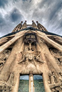 La Sagrada Familia Entrance in Barcelona, Spain