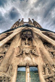 La Sagrada Familia Entrance in Barcelona, Spain