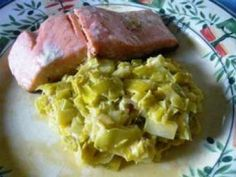 Pavé de saumon et sa fondue de poireaux