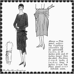 Today, my dear readers, I have a real treat. From Fashion Service of 1928, I bring you lessons in draping flounces and panels! This is a...