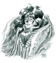 "naomifranq: ""Warm-up sketch of Fujimoto from Studio Ghibli's ""Ponyo."" He's my favorite anime dad~ "" Ponyo Anime, Anime Dad, Studio Ghibli Art, Howls Moving Castle, Image Comics, Hayao Miyazaki, Comic Book Artists, Freelance Illustrator, Fan Art"