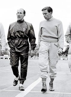Two legends of the Formula 1 world - Sterling Moss & Jim Clark www.motorimports....