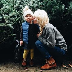 It warmed up here and we are out and about in sweaters and denim vests picking up chalk and chalkboards. Sweet little mornings with this Beane and the Bear running all of the errands in the world. | Johnna Holmgren
