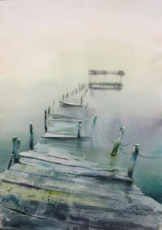 Picture result for theo sauer artist - Gouache Painting Watercolor Landscape, Abstract Landscape, Landscape Paintings, Watercolor Paintings, Watercolours, Watercolor Techniques, Painting Inspiration, Painting & Drawing, Art Drawings