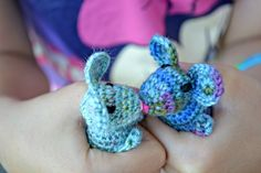 Squeakers! Its finally here!! How to make your own tiny, adorable crochet mouse... just in time for Christmas! I found the best results with these mousies using 4ply sock yarn and a 2.5mm hook. I a...